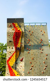 rock climbing sport in outdoor place sport taken in central java indonesia