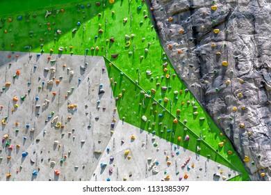 Rock climbing wall, extreme sport