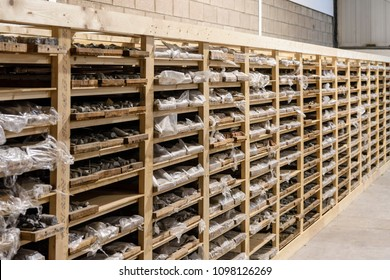 Rock core samples at the Geological Survey of Northern Ireland.