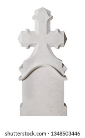 Rock cross sculpture for graveyard tombstone
