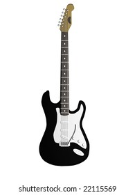 rock electric guitar isolated on white