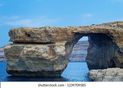 "Rock formation called ""Azure Window"" on Maltese island of Gozo. This rock formation was destroyed during a storm in 2017."