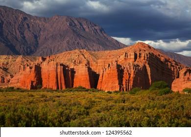 Rock formation, El Cafayate, Salta, Argentina