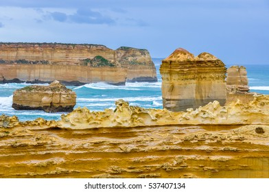 Rock formation at Loch Ard Gorge on the Great Ocean Road in Australia