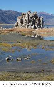 A rock formation at Mono Lake in northern California