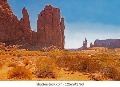"A rock formation in Monument Valley is called ""The Hand""."
