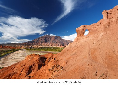 Rock formation, Quebrada de Cafayate, Salta, Argentina