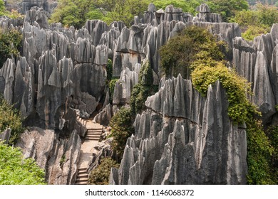 Rock formation in Shilin Stone Forest, Yunnan, China
