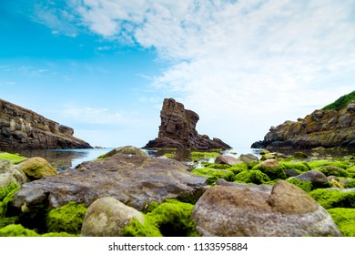 "Rock formation ""The ships "" Sinemorets village, Black Sea, Bulgaria"