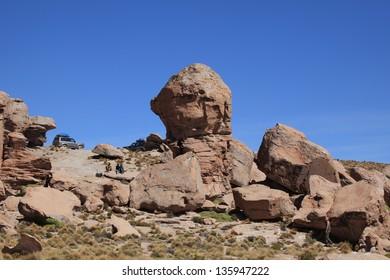 Rock Formations Altiplano Bolivia