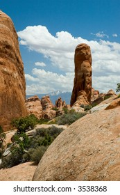 Rock formations in Arches National Park in Utah