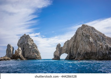 Rock Formations around the Arch in Cabo San Lucas, Mexico.