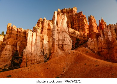 Rock formations in Bryce Canyon National Park inspire creative names of the windswept and eroded formations. Queen Victoria's Garden is a natural eroded formation resembling a garden.