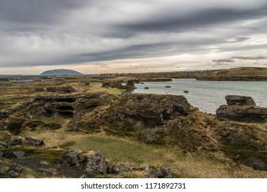 Rock Formations at Hofdi, Iceland, part of Lake Myvatn