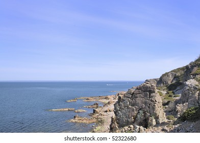 Rock formations at Hovs Hallar in Halland Sweden.