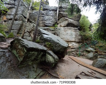 Rock formations and labyrinths of Szczeliniec the Greatest Mountain of the Table Mountains