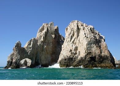 Rock formations at Los Arcos in Cabo San Lucas, Mexico