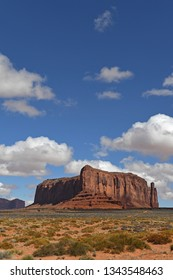 Rock formations at Monument Valley National Park during sunny day