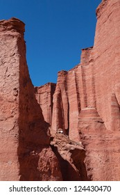 Rock formations in the national park Talampaya, La Rioja, Argentina