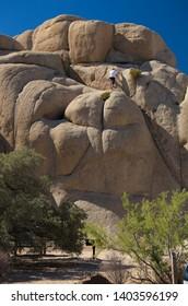 Rock Formations near Jumbo Rocks Campground, Joshua Tree National Park, California, USA September 17th 2016