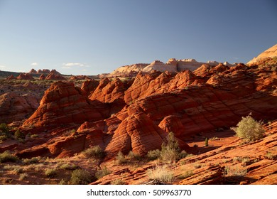 Rock formations in the North Coyote Buttes, part of the Vermilion Cliffs National Monument