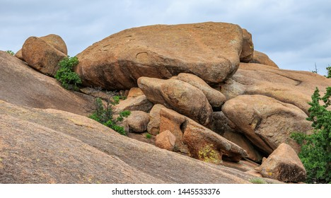 Rock formations in Oklahooma's Witchita Mountains National Wildlife Refuge