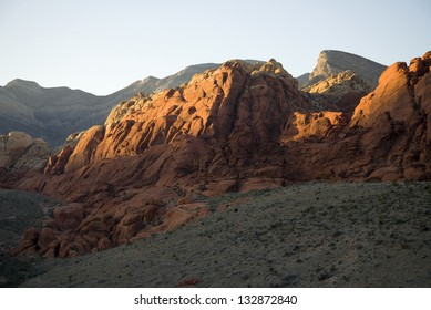 Rock Formations in Red Rock Canyon, Nevada