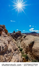 Rock formations in Valley of Fire State Park, Nevada USA