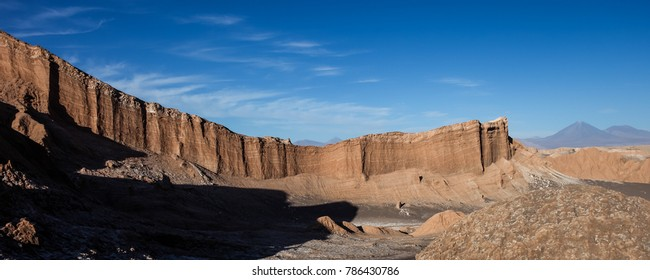 Rock formations at the Valley of the moon in Atacama desert, Chile