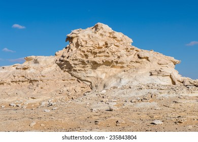 Rock formations at the Western White Desert National Park of Egypt