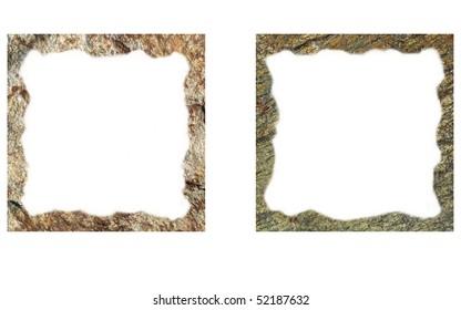 rock frame isolated on white background