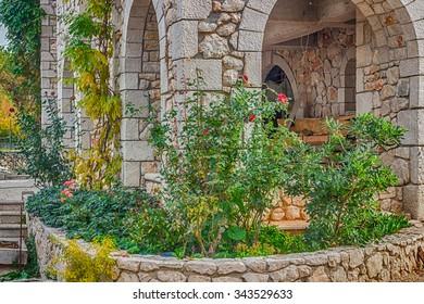 rock garden among the stone walls