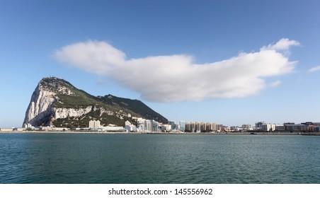 Rock of Gibraltar from La Linea, Spain