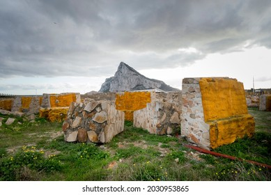 The Rock of Gibraltar,The rock,  is a monolithic limestone promontory located in the territory of Gibraltar, near the southwestern tip of Europe. La linea de la Concepcion , Spain.