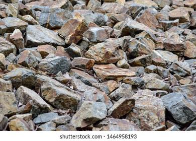 rock ground. the stone field.
