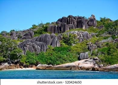 Rock group on Grande Soeur Island, Seychelles