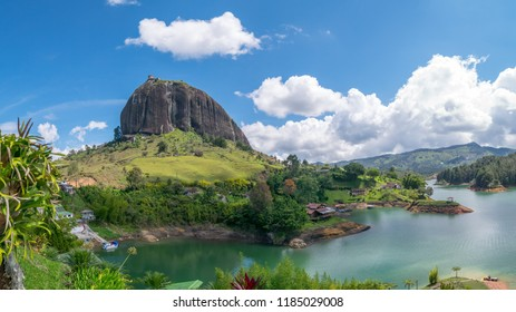 Rock of Guatape (Piedra Del Penol) and Lake in Guatape, Colombia