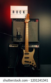 Rock Guitar with amp