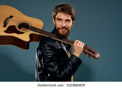 rock, guitar, man with a beard, music