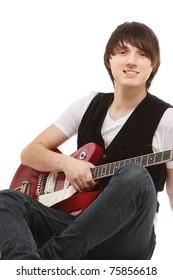 A rock guitarist