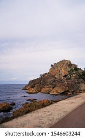 "Rock with hole called ""Window rock"" at Noto peninsula, Ishikawa, Japan."