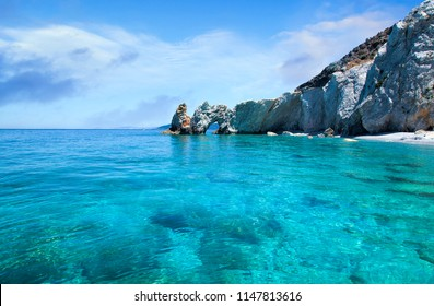 The rock with a hole in Lalaria Beach, Skiathos