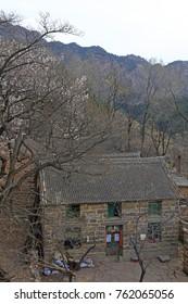 Rock house in mountain village