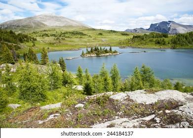 Rock Isle Lake in Assiniboine Provincial Park, Canada