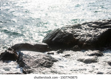 the rock isolate background near sea