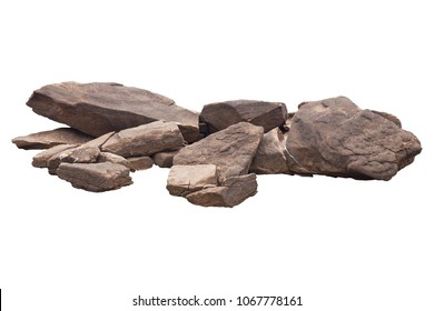 rock isolated on white background