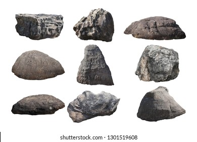 rock isolated on white background.