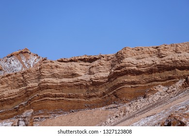 The rock layers of the Amfitheater in Valley of the Moon (Valle de la Luna), Atacama Desert, Chile