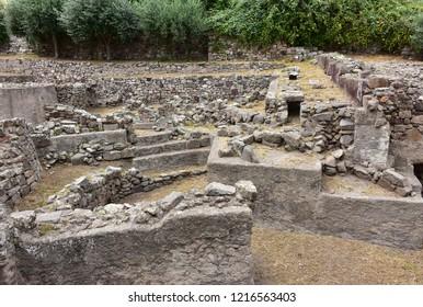 rock of Lipari from prehistoric times to the Roman age,Lipari village,Aeolian island,Italy
