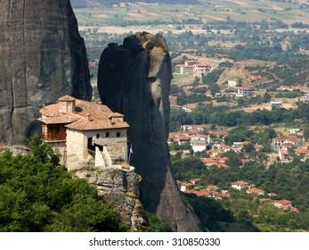 Rock monastery in Meteora, Greece